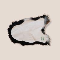Island-Lammfell Langhaar schwarz