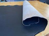 Blanklederhecht, 3-3,5mm, einseitig schwarz