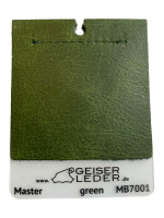 Master Büffelnappa, gewachst, Antik-Effekt green