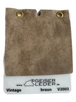 Vintage, nubukiertes Rindleder Fleckschutz braun