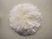 Lammfell rund +/- 35cm naturweiß