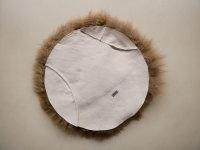 Lammfell rund +/- 35cm taupe