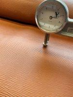 Blankleder Kernstück +/- 2mm Longgrainprägung...