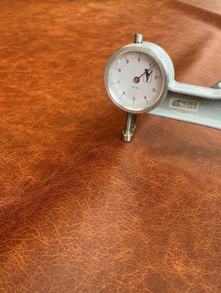 Büffelnappa Antikeffekt cognac +/- 1,3mm