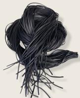 Rindleder Fellriemen 2,5mm, 100cm, schwarz