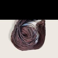 Rindleder Fellriemen 2,5mm, 100cm, dunkelbraun